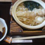 「びんむぎ 軽井沢プリンスショッピングプラザ店」の鍋焼きうどん