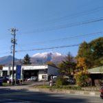 浅間山も冠雪